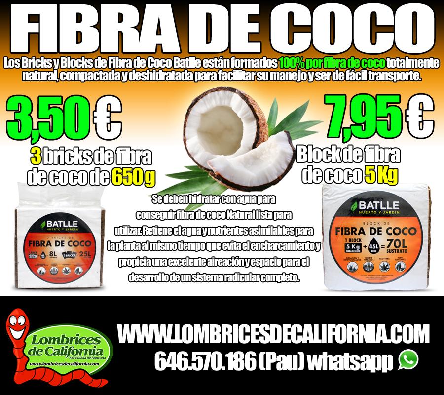 fibra de coco compactada