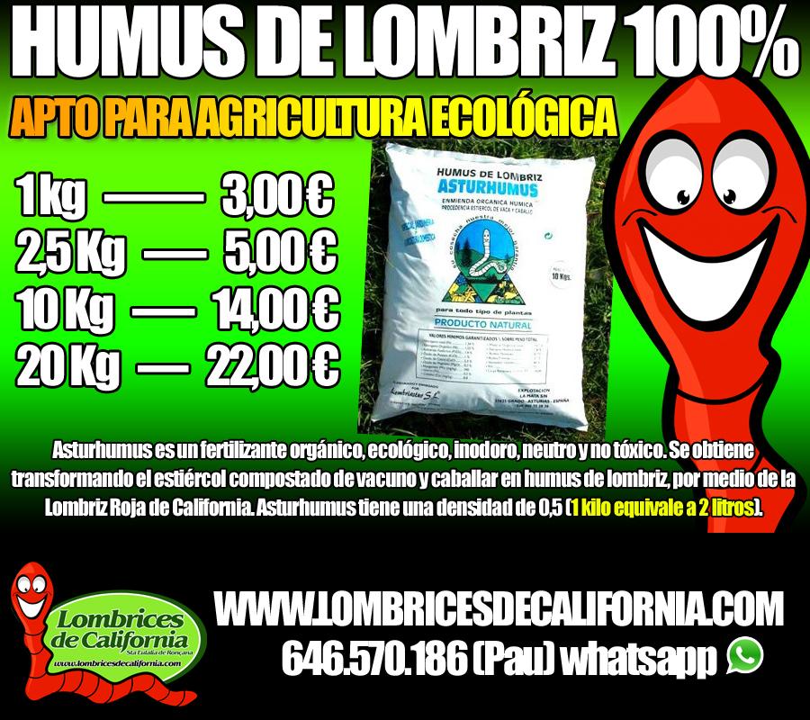 humus de lombriz ecológico